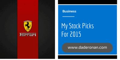 Stock Picks Ferrari 2015