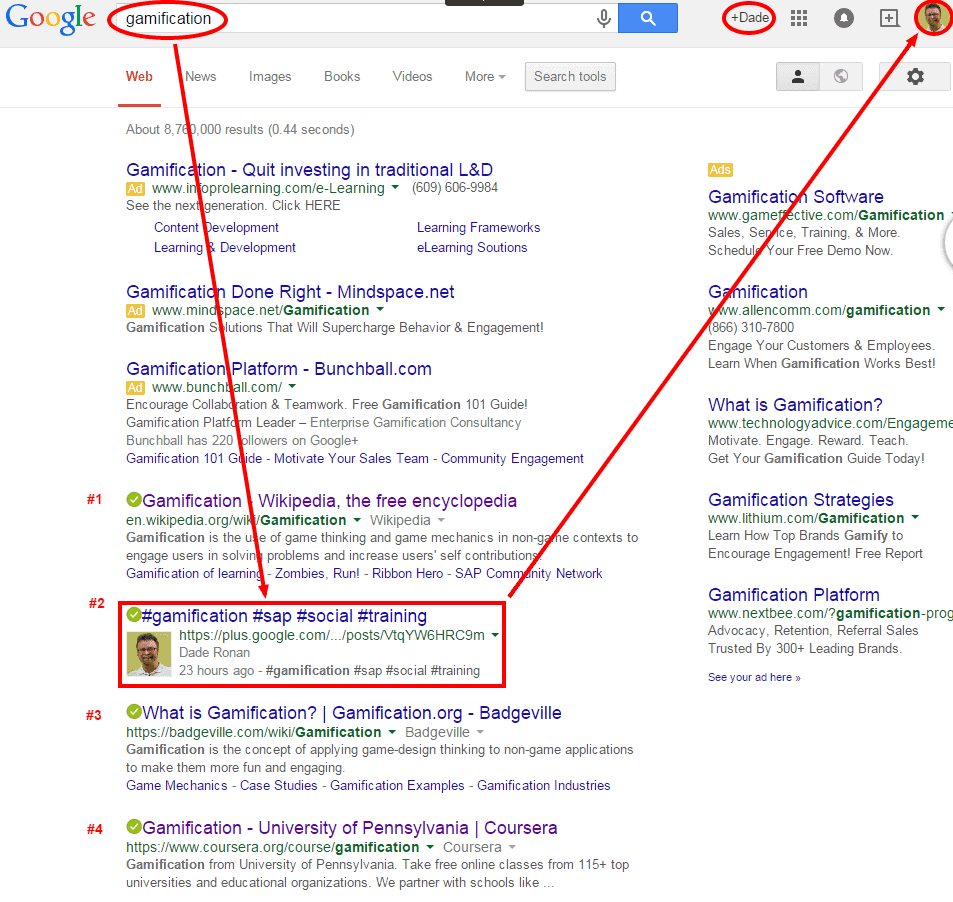 Gamification Google Search