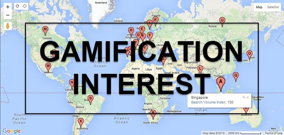This Interactive Map Shows Gamification Interest By Country