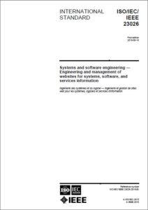 Management of Websites StandardsISO-IEC-IEEE 23026